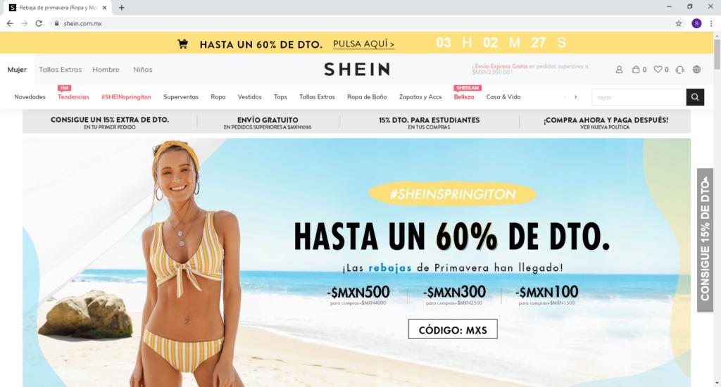Hacer las compras en LINEA [tienda online en MEXICO] shein