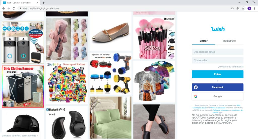 Hacer las compras en LINEA [tienda online en MEXICO] wish