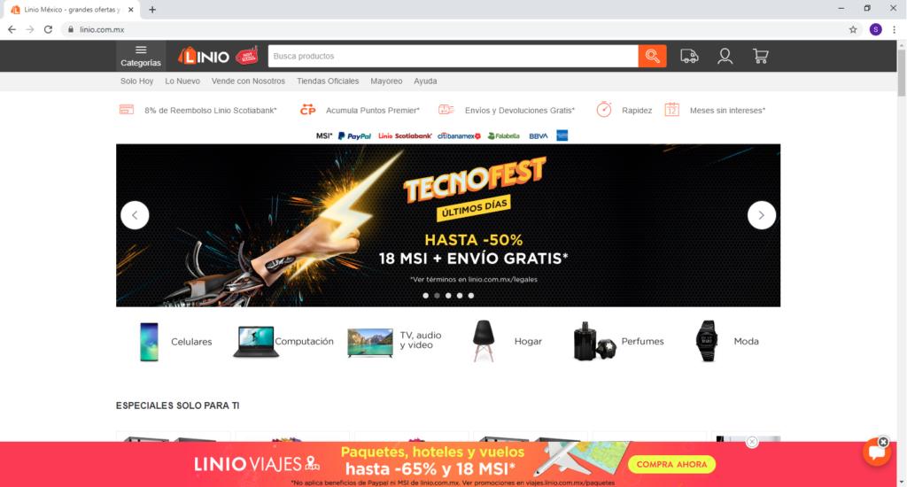Hacer las compras en LINEA [tienda online en MEXICO] linio