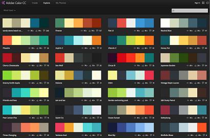 Una de las herramientas para desarrollo web, Adobe Kuler