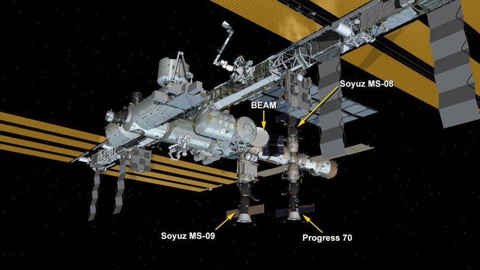 fuga de oxigeno en la Estación Espacial Internacional