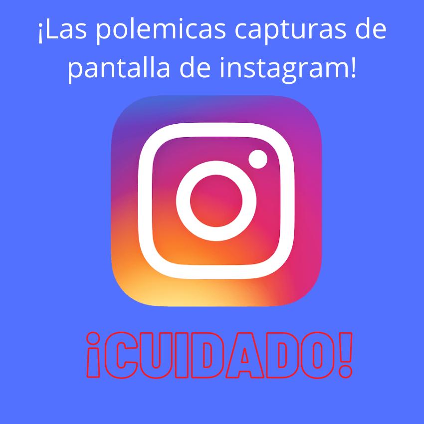 Capturas de pantalla en instagram