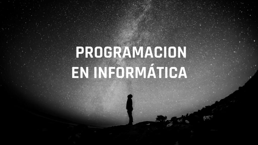 programación en informática