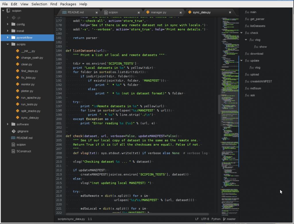 Programas para programar Atom gran editor de texto