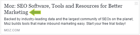 MOZ Title tag preview tool