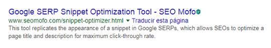 SEOMofo Google SERP Snippet optimizador
