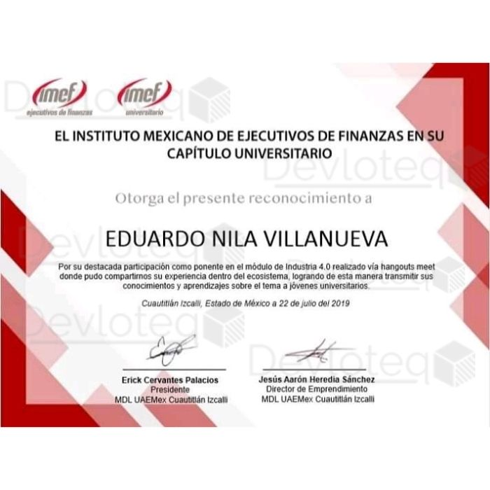 Instituto Mexicano de Ejecutivos de Finanzas en su Capitulo Universitario