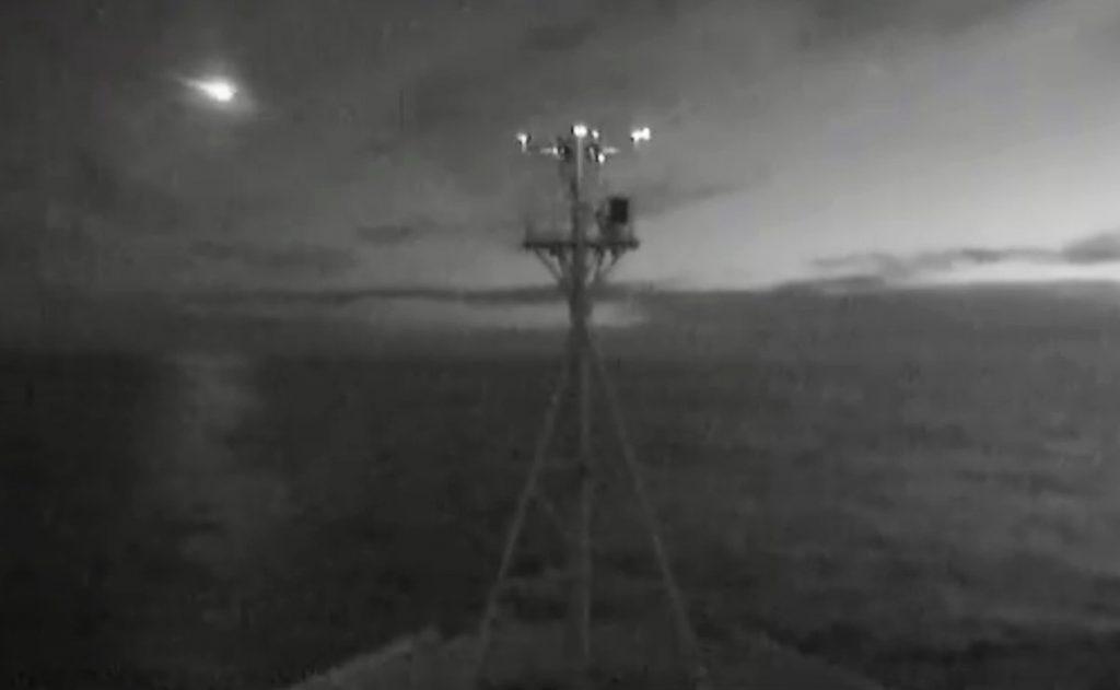¡Es captada la destrucción de un meteorito en alta mar, a 100 kilometros de las costas de Tasmania, por un barco de investigación!
