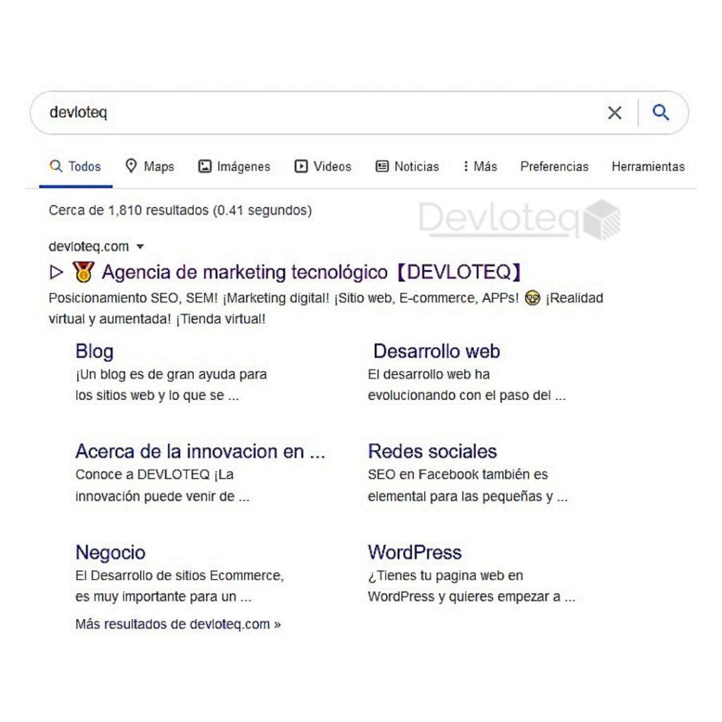 mi página web aparece en primer lugar en Google