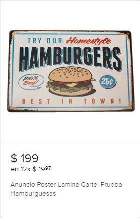 Anuncios de hamburguesas y hot dog